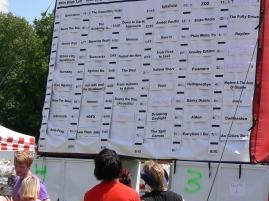 schedule on display at warped tour 2006