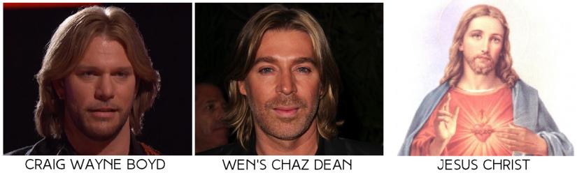 the voice winner craig wayne boyd, wen's chaz dean, jesus christ