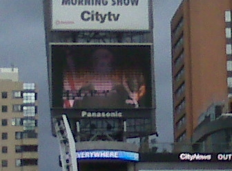 judge judy playing in yonge dundas square