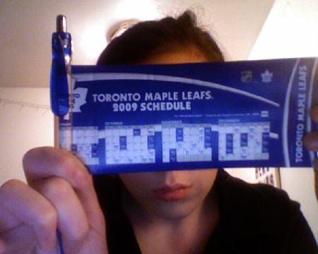 margotsmokes toronto maple leafs 2009 schedule pen