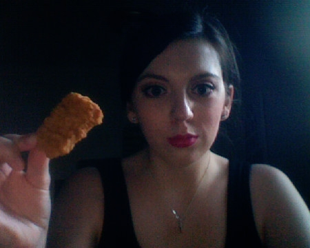 margotsmokes wielding chicken nugget
